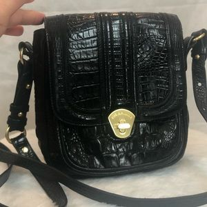 Brahmin Croc Embossed Leather Crossbody